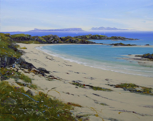 View of Eigg and Rum from Camasdarrach, Arisaig