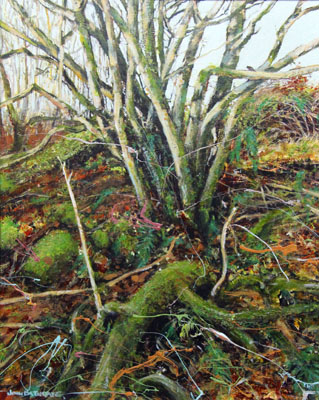 "Painting of ""Old Birches"", at Strollamus,Skye"