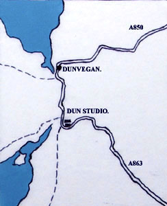 Studio location map of North Skye.